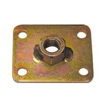 Piastra dado m8 60 x 50 mm, in acciaio zincato ad alta resistenza alla corrosione