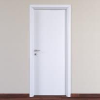 Porta da interno battente Pearl bianco 90 x H 210 cm reversibile