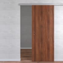 Porta da interno scorrevole One walnut Noce 80 x H 210 cm reversibile