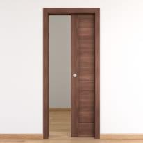 Porta per bed & breakfast scorrevole Coventry noce 60 x H 210 cm reversibile