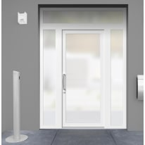 portoncino d'ingresso PVC Condo21 bianco L 170 x H 250 dx