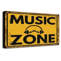 quadro su tela music zone 24x35 24x35
