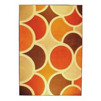 Tappeto Opera sixties arancione, beige 133 x 190 cm