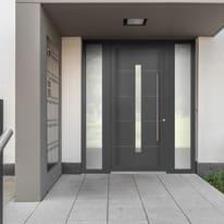portoncino d'ingresso PVC Modern6 grigio L 170 x H 210 sx