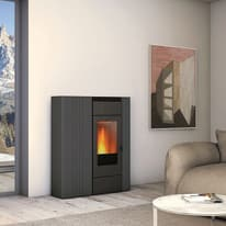 Termostufa a Pellet Superior Terry TH 13,8kw 17,2 kW grigio