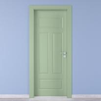Porta da interno battente Coconut Groove verde 70 x H 210 cm sx