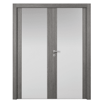 Porta da interno battente Starwood 2 Ante Pietra 140 x H 210 cm dx