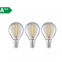 3 lampadine LED Lexman E14 =40W sfera luce naturale 360°