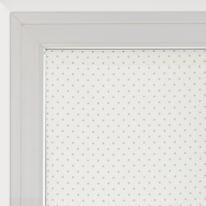 Tendina a vetro per finestra Pois panna 58 x 160 cm