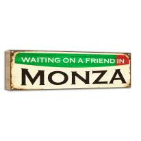 Quadro in legno Waiting friend Monza 50x20