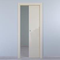 Porta da interno scorrevole Massaua ivory avorio 60 x H 210 cm reversibile
