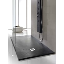Piatto doccia poliuretano Soft 190 x 90 cm nero