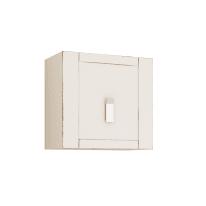 Pensile Barocco bianco vintage 1 anta L 50 x H 50 x P 51 cm