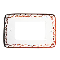 Placca 1 modulo Eurokeramic Ceramica Bianco, Marrone