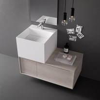 Lavabo da appoggio Cube bianco