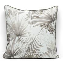 Cuscino grande Palm grigio Piping grigio retro tinta unita 50 x 50 cm