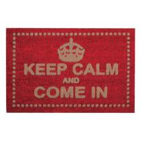 Zerbino Keep calm rosso 40 x 70 cm
