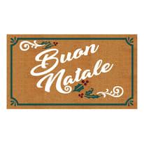 Zerbino Buon natale multicolore 40 x 70 cm