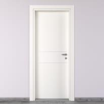 Porta da interno battente Two Lines bianco 90 x H 210 cm sx