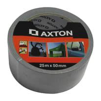 Nastro per riparare Axton grigio 25 m x 50 mm