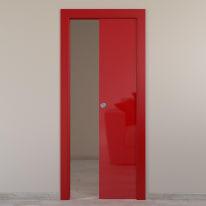 Porta da interno scorrevole Massaua red rosso 80 x H 210 cm reversibile