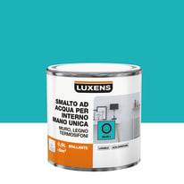 Smalto manounica Luxens all'acqua Blu Miami 3 brillante 0.5 L