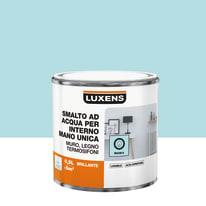 Smalto manounica Luxens all'acqua Blu Miami 6 brillante 0.5 L