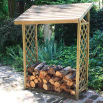 Legnaia in legno con griglia 0,46 m², spessore 43 mm