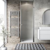 Porta doccia battente Neo 87-91, H 201,7 cm vetro temperato 6 mm cromo PVD