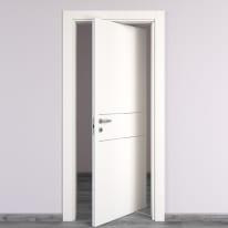 Porta da interno rototraslante Two Lines bianco 70 x H 210 cm dx