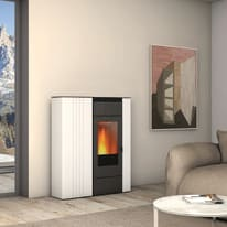 Termostufa a Pellet Superior Terry TH 13,8kw 17,2 kW bianco