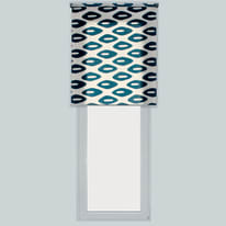 Tenda a rullo Esagoni blu 150 x 190 cm