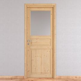 Porta da interno battente Beethoven vetro grezza 70 x H 210 cm reversibile