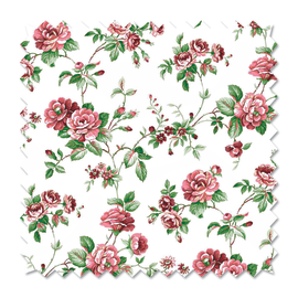Tessuto al taglio Fiori vintage rosa 280 cm