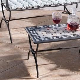 Tavolino Maroc, 70 x 40 cm azzurro