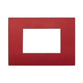 Placca 3 moduli Vimar Arké rosso mattone