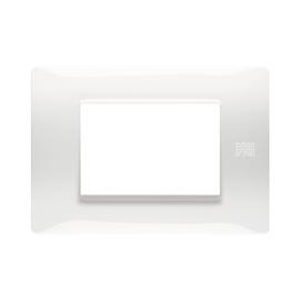 Placca 3 moduli Simon Urmet Nea Flexa bianco ghiaccio