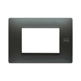 Placca 3 moduli Simon Urmet Nea Flexa acciaio scuro