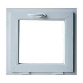 Finestra PVC bianco L 60 x H 60 cm