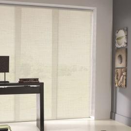 Tenda a pannello resinato effetto lino bianco bianco 60 x 300 cm
