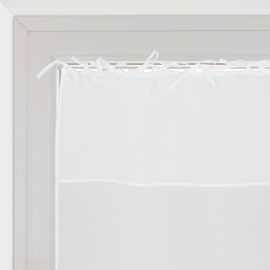 Tendina a vetro per finestra Nouettes bianco 60 x 120 cm