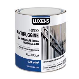 Fondo antiruggine Luxens all'acqua grigio 0,5 L
