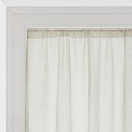 Tendina a vetro per finestra Astrid bianco 60 x 240 cm