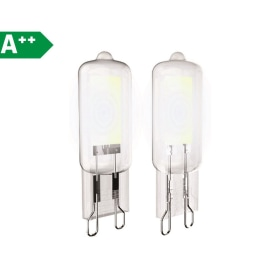 2 lampadine LED G9 =4W luce naturale 320°