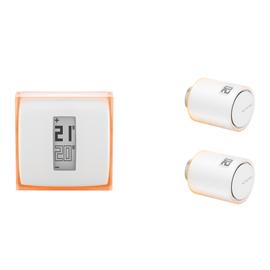 Kit per riscaldamento individuale termostato + 2 valvole intelligenti per termosifoni Netatmo INK010