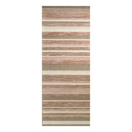 Tappeto Nizza intarsi beige, crema, rosso 80 x 200 cm