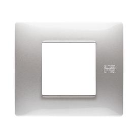 Placca 2 moduli Simon Urmet Nea Flexa alluminio