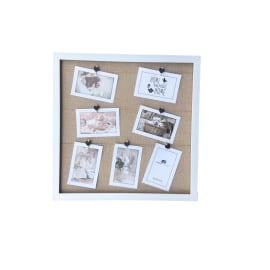 Portafoto multiplo Clamp Juta bianco 7 foto