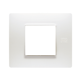 Placca 2 moduli Simon Urmet Nea Flexa bianco