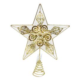 Puntale stella 5 punte oro 30 x 30 x 2,5 cm